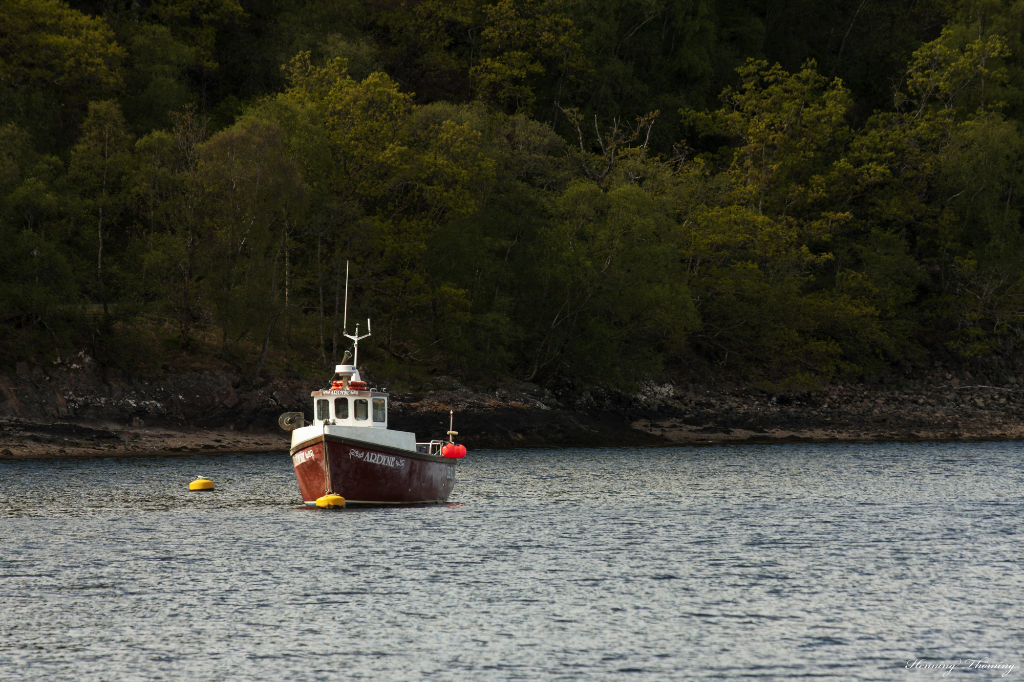 Fisherboat on Loch Linnhe - near Fort William
