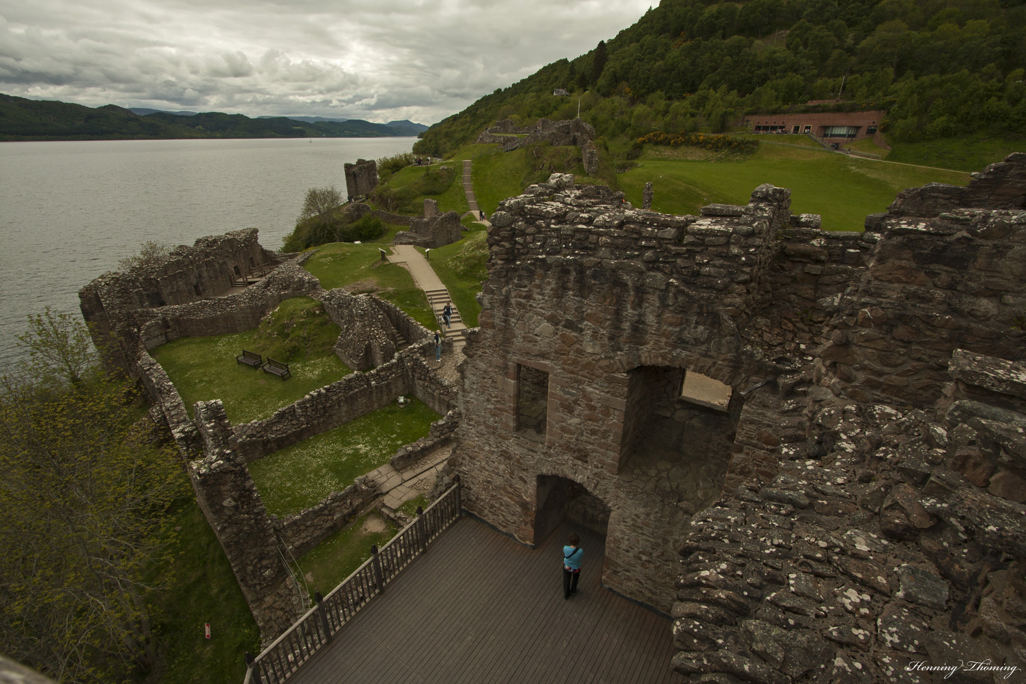Urquhart Castle on the boundary of Loch Ness