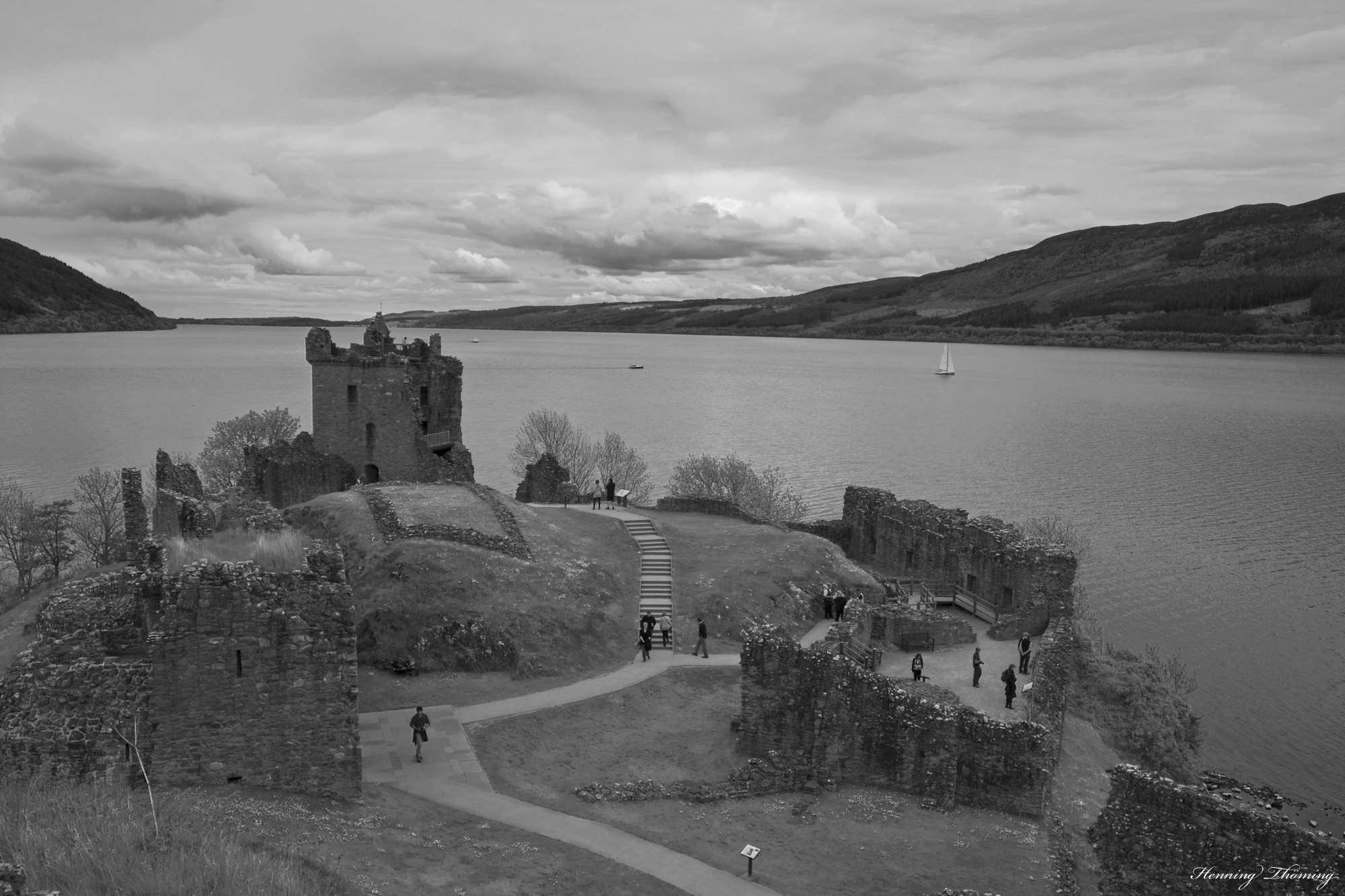 the remains of Urquhart Castle