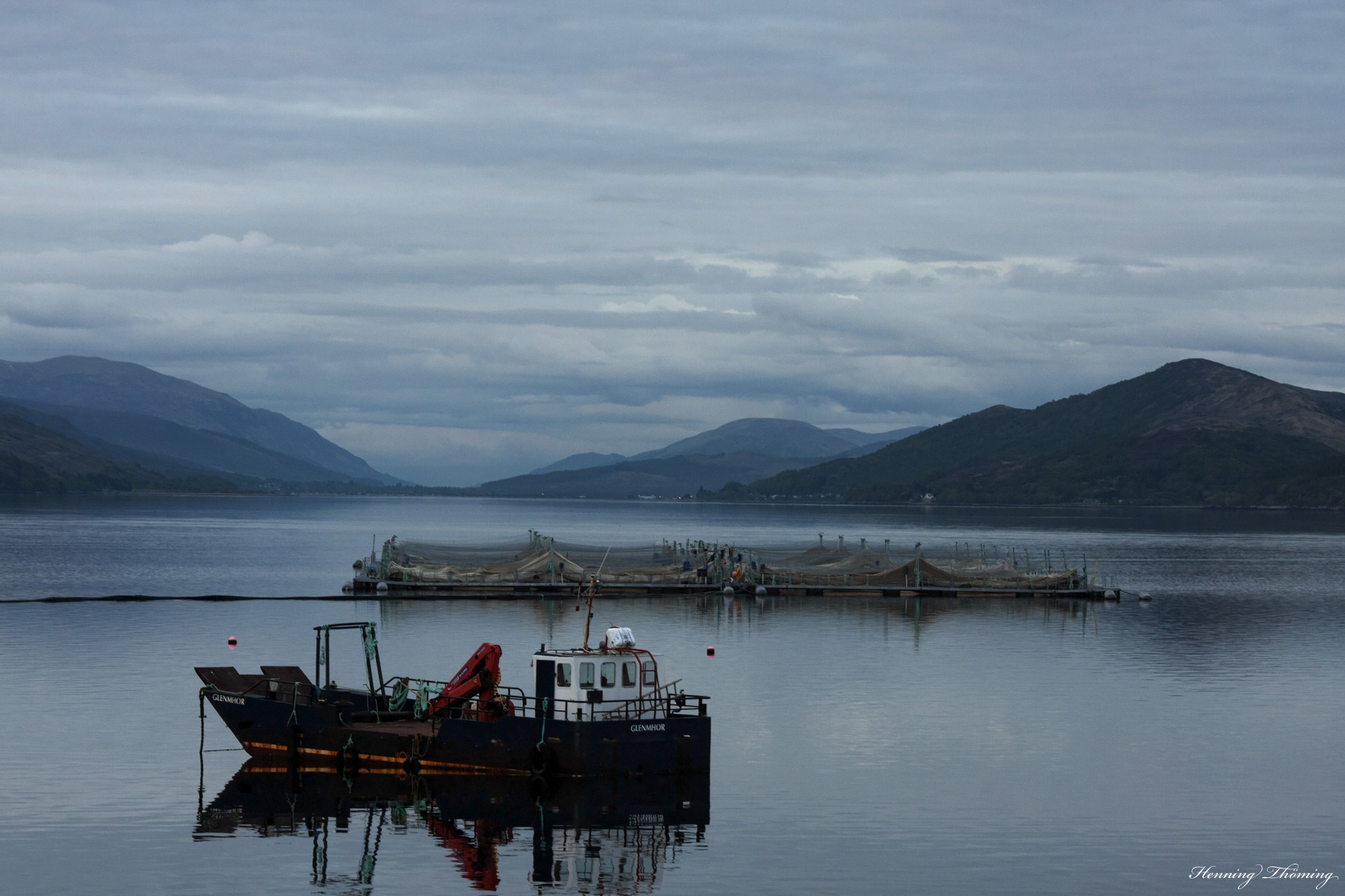 oyster fisher on Loch Linnhe