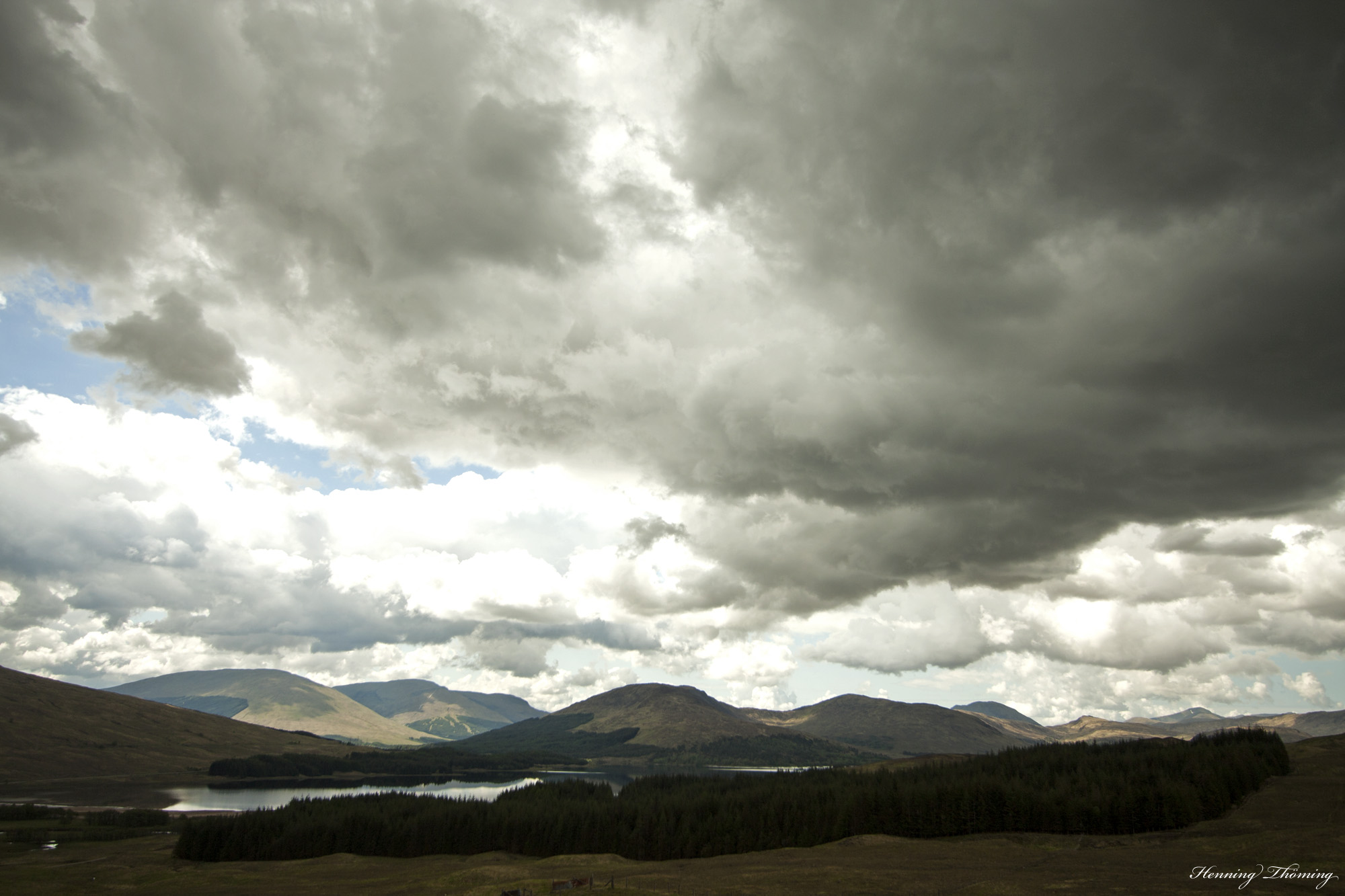 a cloudy view on Loch Tula